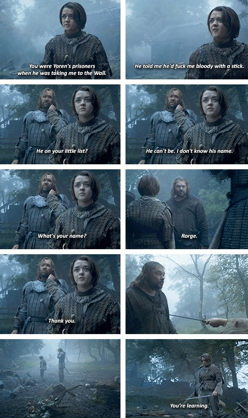 [gifset] Your're learning. #GOT
