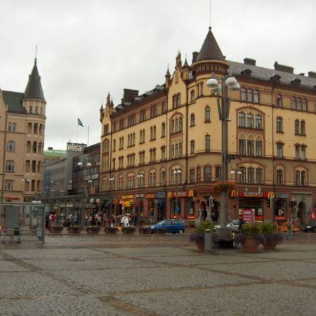 The Central Square of Tampere, a place for many events, market and even concerts.