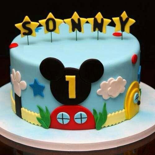Torta casa de Mickey mouse