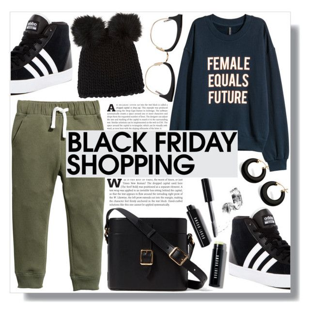 """""""Steal Those Deals: Black Friday"""" by sc-styles on Polyvore featuring H&M, Palm Beach Jewelry, adidas, Bobbi Brown Cosmetics, Barneys New York and Thom Browne"""