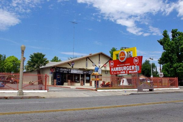 The site of the first McDonalds, opened by brothers Richard and Maurice McDonald, on Route 66 in San Bernardino I Photo: Ed Fuentes