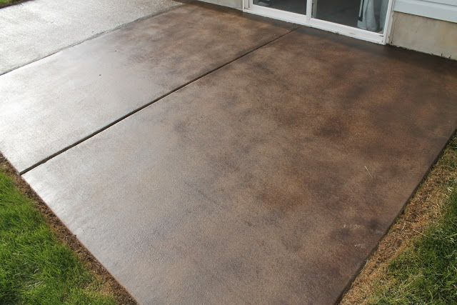 How To Stain A Concrete Patio | Chris Loves Julia