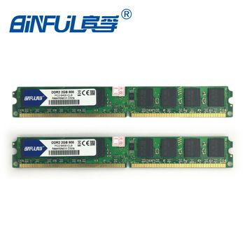 Binful DDR2 2GB 800MHz PC2-6400 4GB(2Gx2) Memory Ram Memoria for Desktop PC Computer (Compatible with 667mhz 533mhz) 1.8V   Price: 20.35 USD