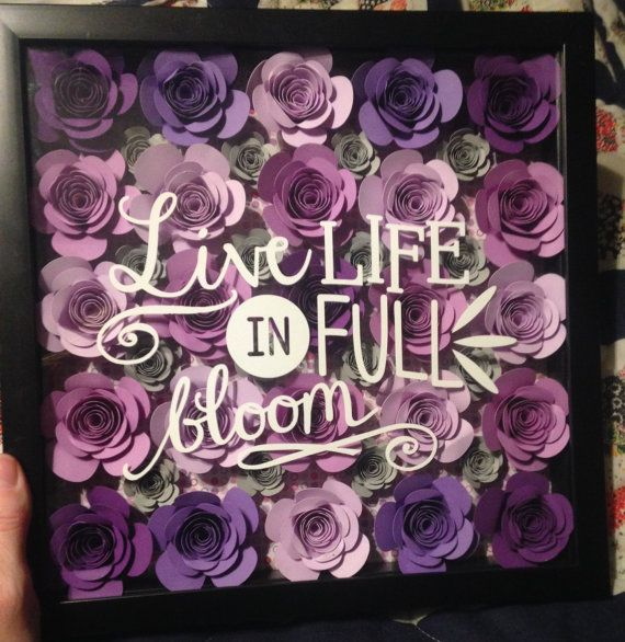 Live Life In Fullbloom 11x11 Shadowbox
