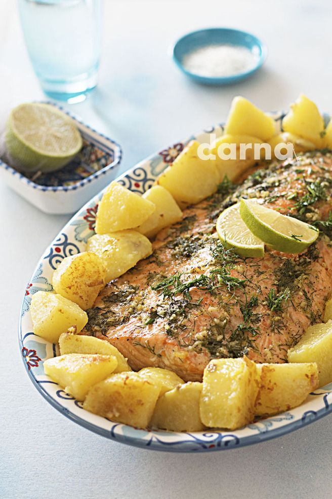 Best 48 middle eastern main dishes images on pinterest magazine baked salmon with dill lemon arabic recipe forumfinder Choice Image