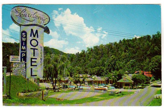 Vintage Gatlinburg Tennessee Chrome Postcard 1960s Laurelwood Motel