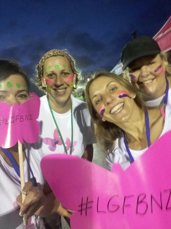 Volunteers Preparing for the day - LGFB at the Color Run NZ, Albany Auckland, 12 March 2017