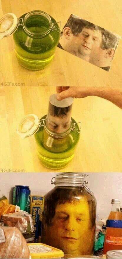 Head in a pot