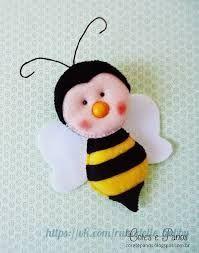 Resultado de imagen para amigas feltro.blogspot abeja molde