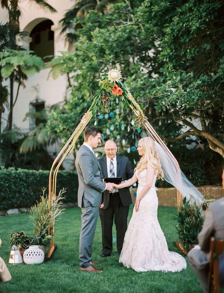 free wedding venues in california%0A Copper   Gems Abound at this Sweet Santa Barbara Wedding  Wedding ArchesWedding  CeremonyWedding