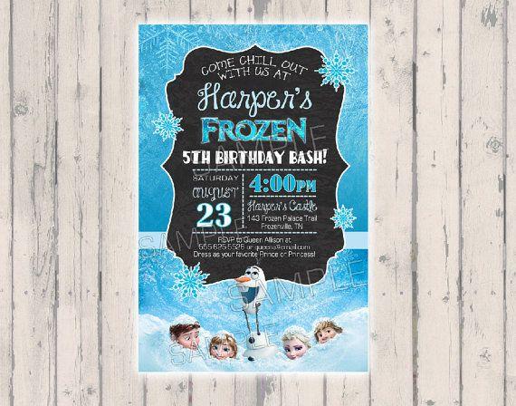 $1.79 Frozen Invitation Disney Frozen Invitation by PoshPaisleyBoutique