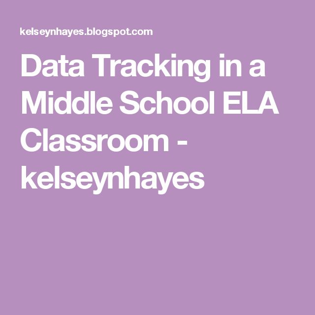 Data Tracking in a Middle School ELA Classroom - kelseynhayes