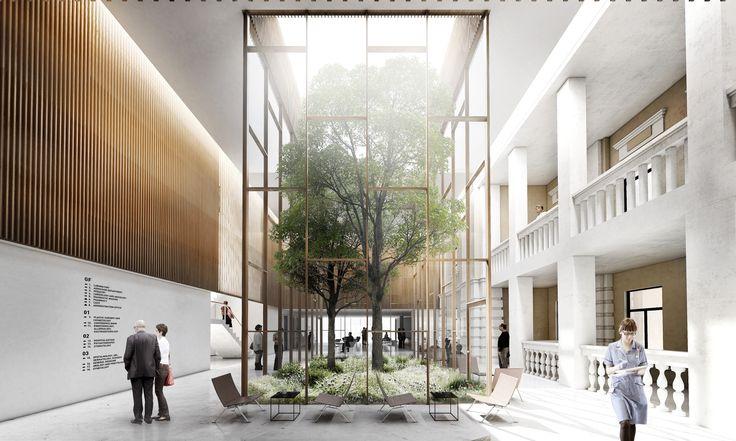 Galeria de WE architecture e CREO ARKITEKTER propõem um novo Centro Médico em Moscou - 2 #interiorlandscape