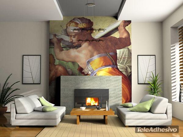 Fototapeten Lybian Sibylle (Detail)_Michelangelo
