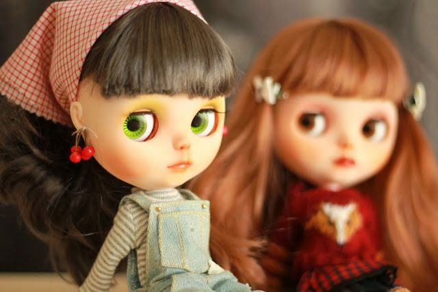 chica con flequillo, blythe, custom