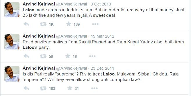 .@ArvindKejriwal tells u why aap will help Lalu Yadav to win election... Pretty convincing!!!