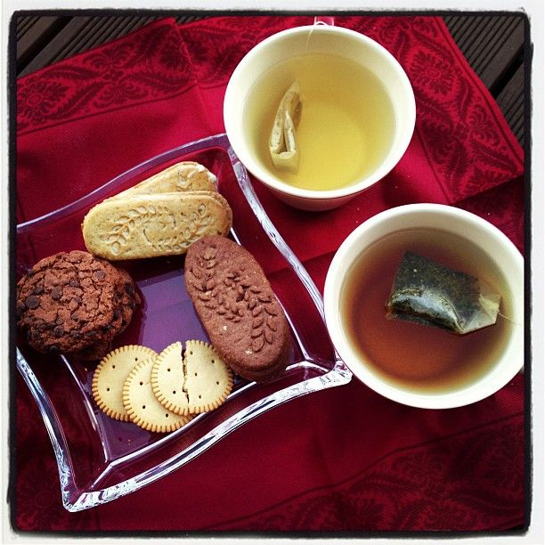 having tea with my mum :D