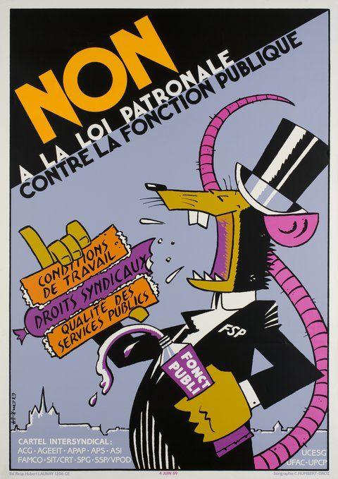 Non à la loi patronale contre la fonction publique (1989)