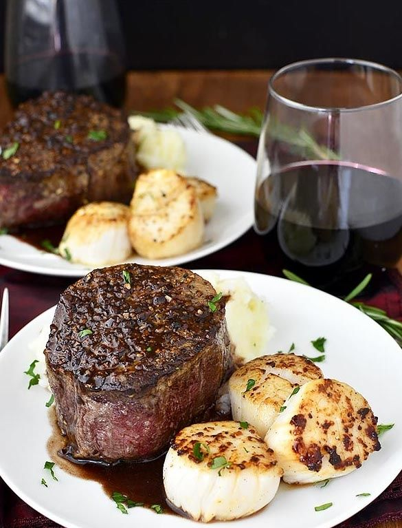 Surf and Turf for Two #healthy #dinner #recipes http://greatist.com/eat/healthy-dinner-recipes-for-two