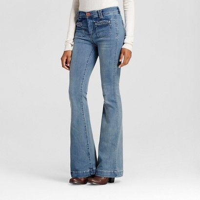Women's High Rise Flare Jean Antique Wash - Dittos