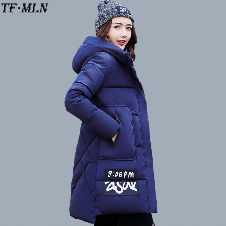 34.29$  Know more - TFMLN Women Winter Parkas 2017 New Jacket Cotton Coat Hood Loose Parka High Quality Fashion Long Jacket Thick Femme Outwear   #magazineonlinewebsite