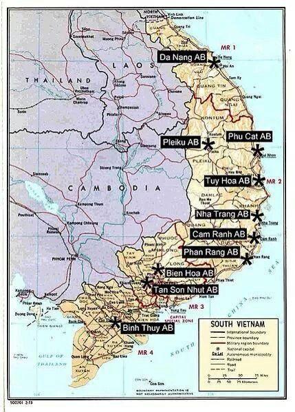 Air Vietnam On Pinterest Vietnam War Vietnam War Photos And War - Map of air force bases in us