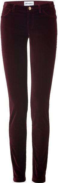 Emilio Pucci Bordeaux Velvet Pants in Purple (bordeaux).  Purple crushed velvet pants. 'nough said.