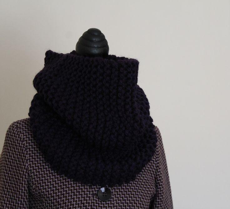 Scaldacollo in lana grossa realizzato a maglia : Sciarpe, foulard, cravatte di la-pizia