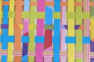 little a: Weaving with paper strips