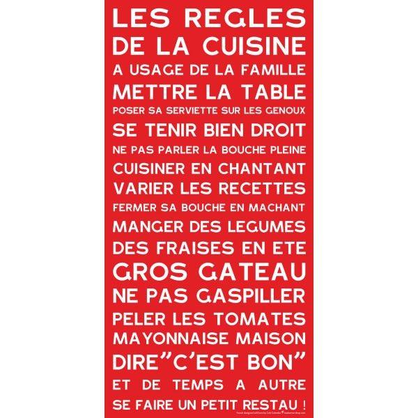 règles de la cuisine