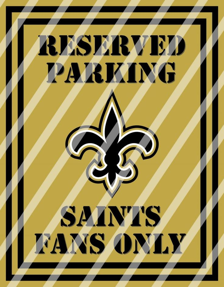 New Orleans Saints Parking Wall Decor Sign #3 (instant download ...