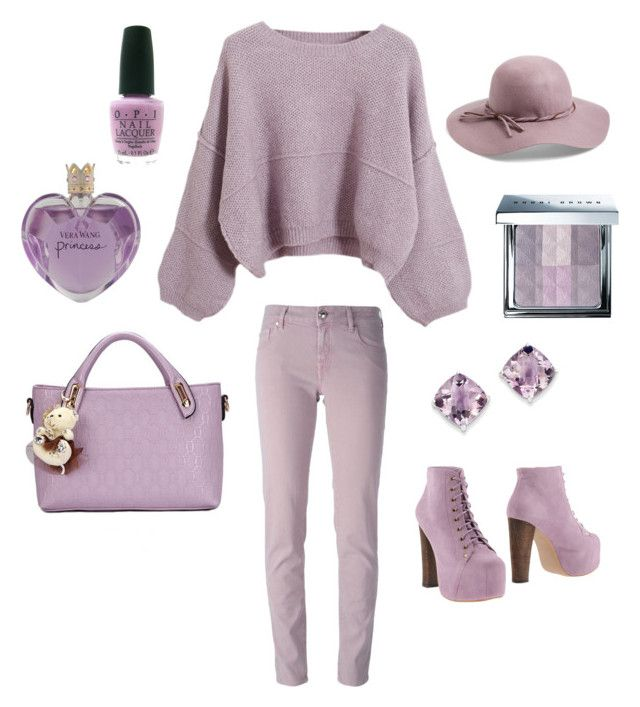"""Lavendar"" by thestrawberrytales on Polyvore featuring Chicnova Fashion, Jacob Cohёn, Jeffrey Campbell, Relaxfeel, Kevin Jewelers, Vera Wang, OPI, Bobbi Brown Cosmetics and Collection XIIX"