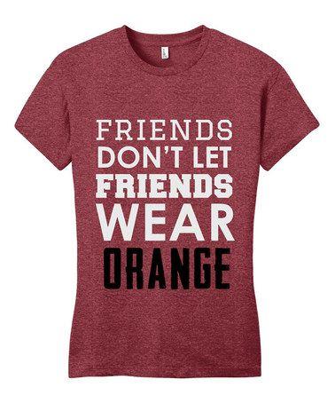 Look at this #zulilyfind! Red & White 'Friends Don't Let Friends' Tee #zulilyfinds