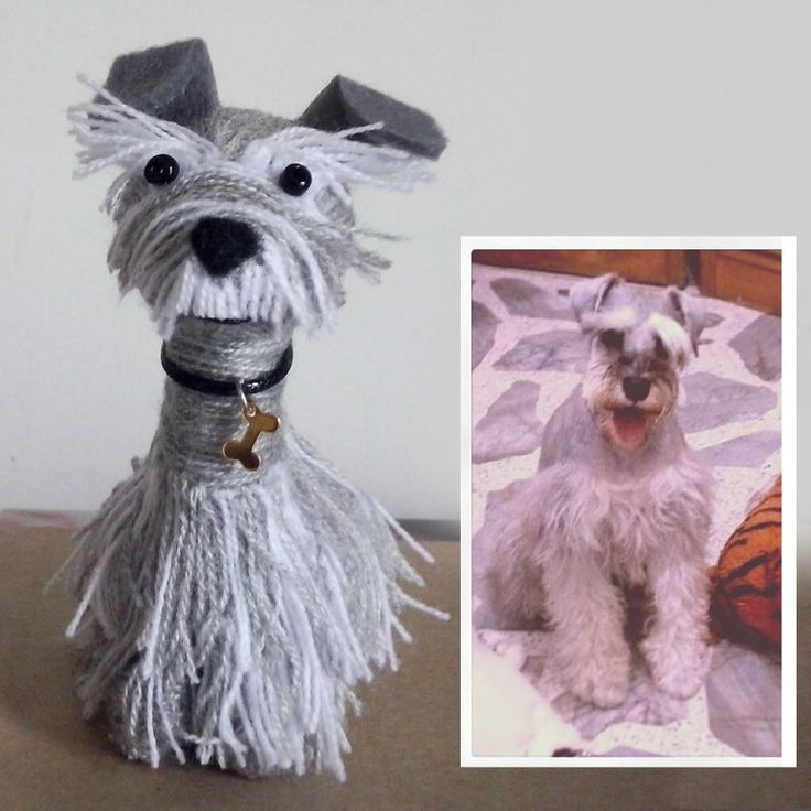 little dog made by wool