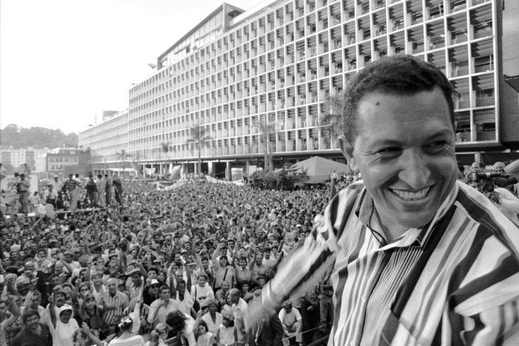 Hugo Chavez, Venezuela's fiery socialist president died March 5 at the age of 58 after a long battle with cancer. Above, Chavez speaks to people gathered at the Plaza Caracas on Feb. 4, 1998, in Caracas, Venezuela during celebrations for the anniversary of Chavez's attempted 1992 coup.