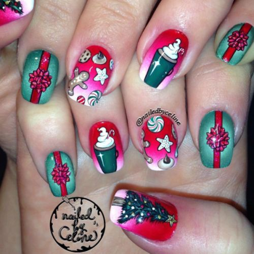 best 25 christmas present nails ideas on pinterest