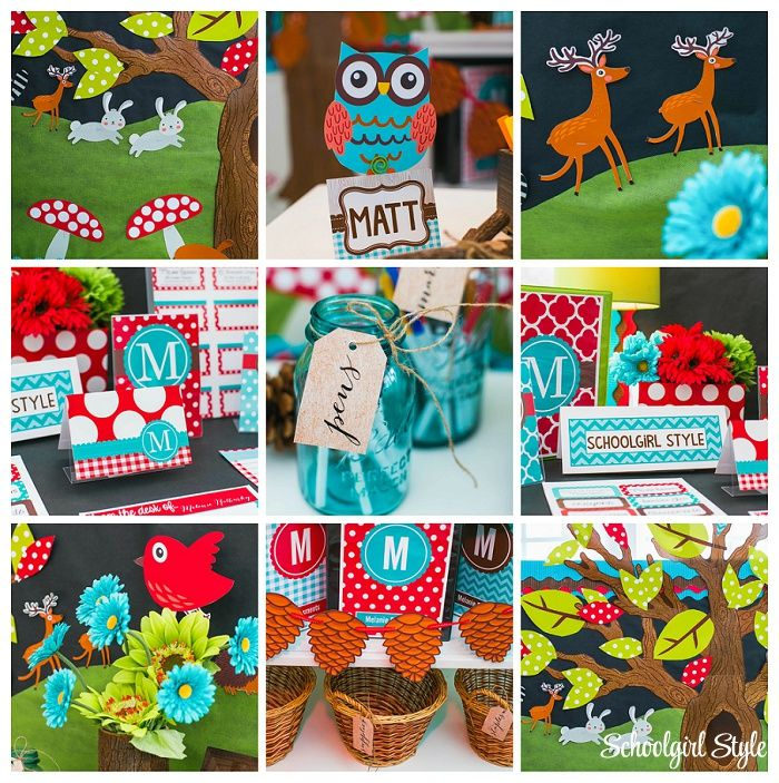 Woodland Animals Classroom Theme-Schoolgirl Style