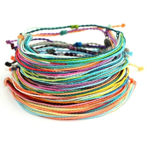Pura Vida Bracelets Women's Friendship Pack (10 Bracelets) ($36) ❤ liked on Polyvore featuring jewelry, bracelets, pura vida jewelry and pura vida