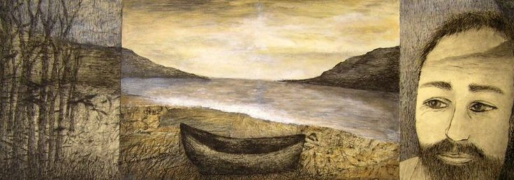 Deborah Perrow - Insight - mixed media collage - 'Sea Stories' 14 May to 7 June 2015, Strathnairn Arts