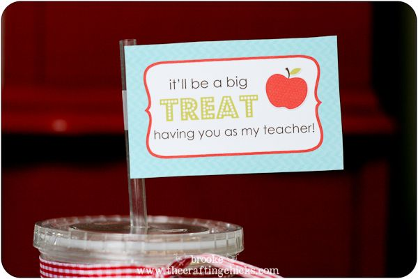 teacher treat cup #printable: Teacher Treats, Cute Teacher Gifts, Gift Ideas, Back To Schools Teacher, Teacher Appreciation Gifts, Tags Free, Schools Gifts, Gifts Ideas Crafts, Free Printables