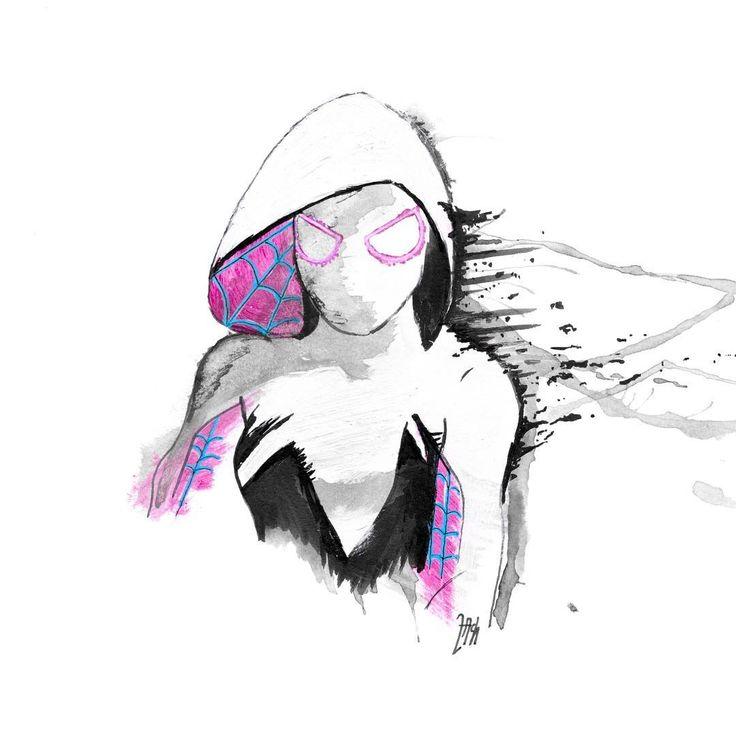 Spider-Gwen #spidergwen #gwenstacy #spider #gwen #spiderman #marvel #marvelfanart #minimal #minimalist #minimalistic #addcreations #simple #simplest #simplistic #acrylic #sharpie