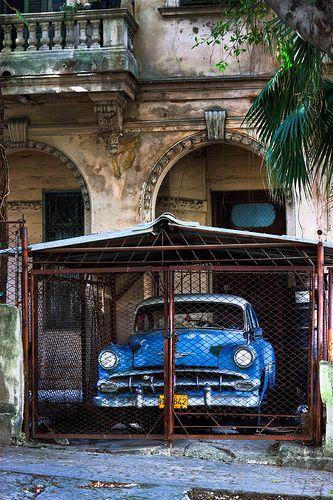 garage for an old car in Havanna, Cuba