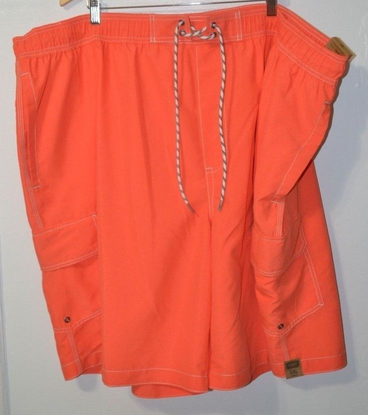 "NWT The FOUNDRY Big & Tall Orange Swimwear Short Cargo Pant 11"" inseam Size 5XL  #TheFOUNDRYSupplyCo #Trunks"