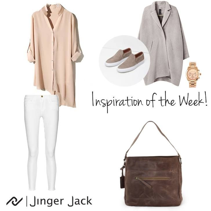 Inspiration of the Week with Jinger Jack Barcelona M in Waxy Brown! http://jingerjack.co.za/product/barcelona-m-waxy-brown/ #NiceThingsOnEarth ##UniversalEleganceDESIGNEDinCapeTown #OOTD #JingerJack #Inspiration #Temptation #Barcelona #SlouchBag #MustHave