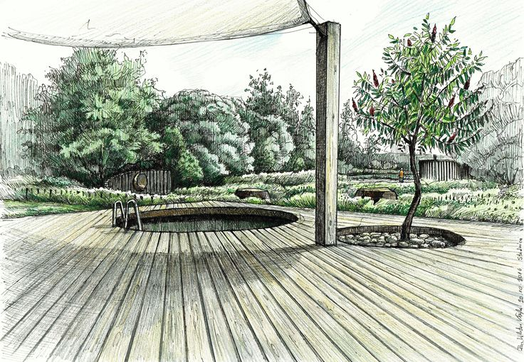 Project of the country garden in poland country garden in for Landscape architect drawing