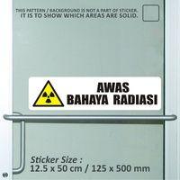 sticker safety sign bekasi murah awas bahaya radia