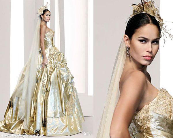 Best 25+ Gold Wedding Dresses Ideas On Pinterest