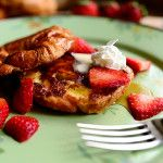 Croissant french toast. Just when I didn't think french toast could be improved on any further! Yummy!