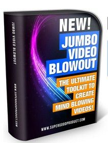 Jumbo Video Blowout – How to Create Engaging Marketing Videos With Ease and Fun, Without Time Consuming, and Spending Tons of Money, By Using Super Jumbo Video Toolkit Included with All the Tools and Resources...  Check Detail: http://www.releasedl.com/jumbo-video-blowout/