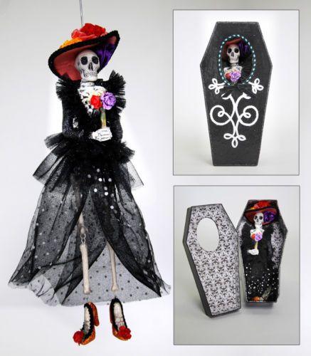 28-29861-Katherine-039-s-Collection-esqueleto-ataud-Ornamento-Halloween-Dia-De-Muertos